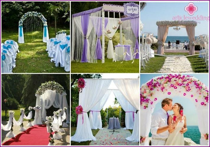 Fabric-style outdoor wedding