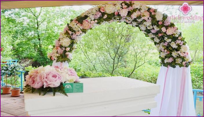 Arc arch for celebration