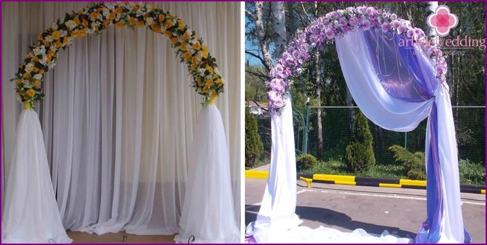 Beautiful handmade wedding arches