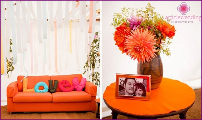 How to decorate a bride's house