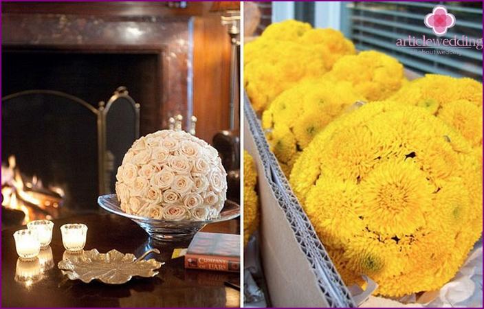 Pomanders for wedding home decoration