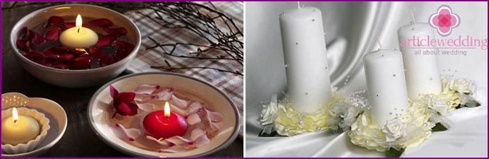 Kynttilät kodinsisustusta varten