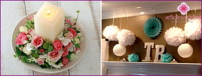 Wedding home decoration for the bride