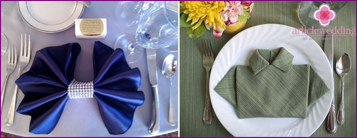Options for beautiful folding wedding napkins