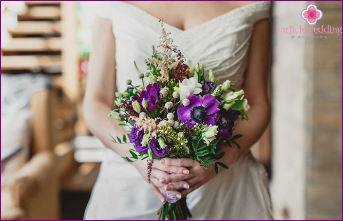 Bride with a bouquet