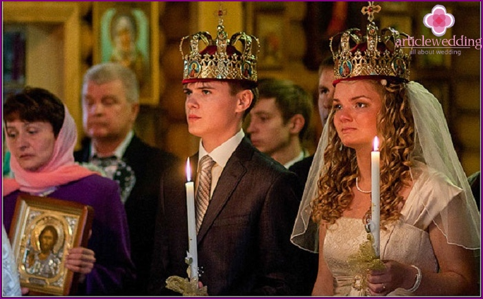In the photo, the wedding rite: strengthening the union