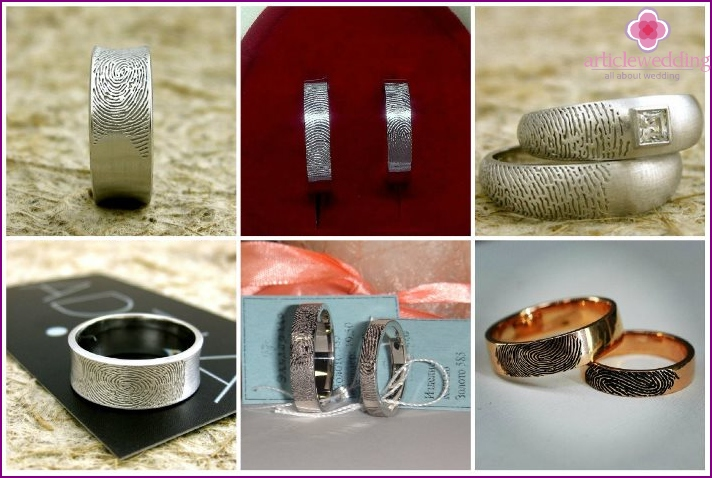 Fingerabdruck-Engagement-Produkte