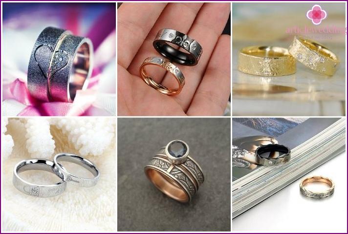 Models of unusual pair rings for spouses