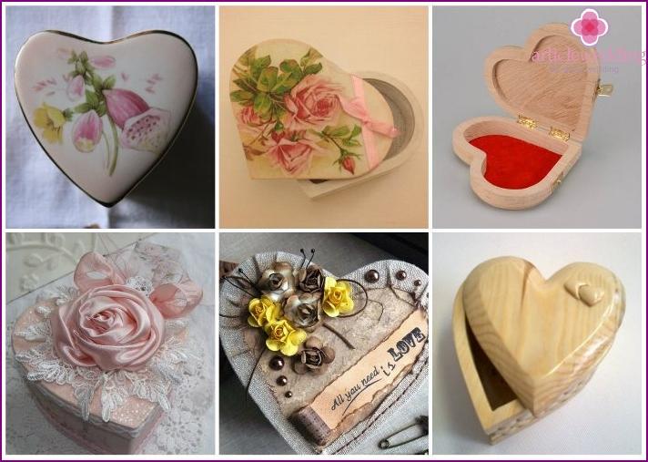 Heart shaped wedding box