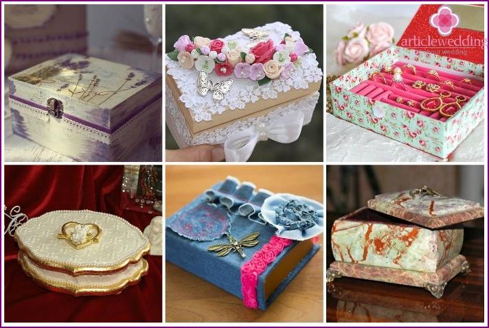 Ribbon & Lace Wedding Box