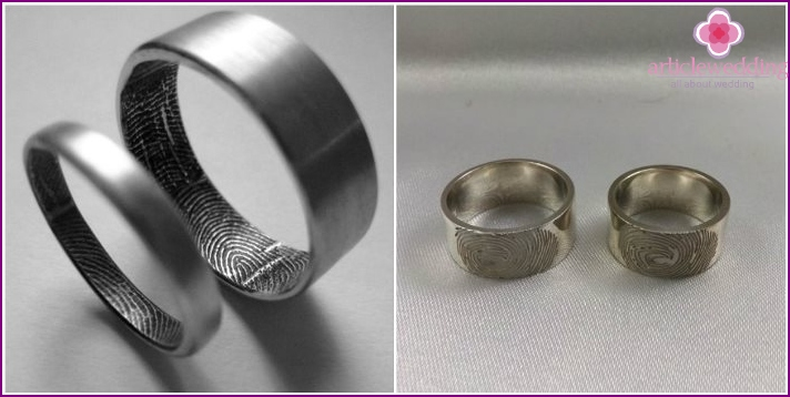 Fingerprint engagement jewelry