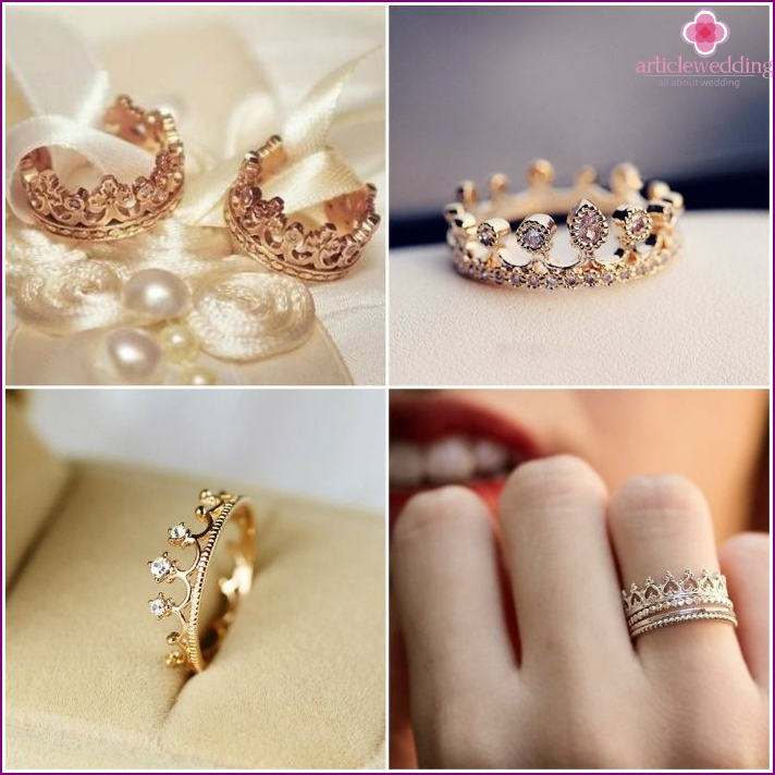 Crown Engagement Jewelry