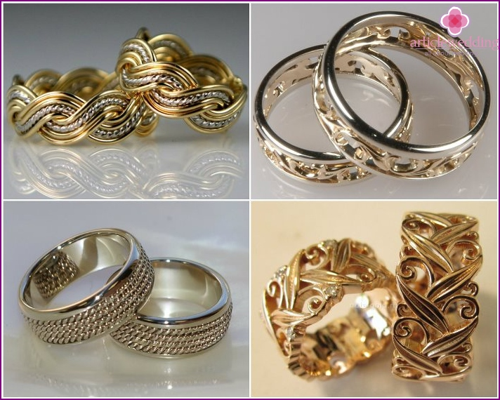 Jewelry wedding items with weaving