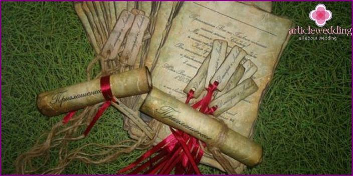 Scroll-Einladung