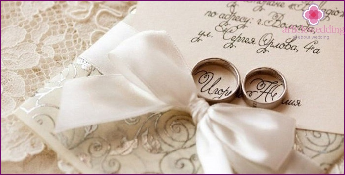 Beautiful text for a wedding invitation