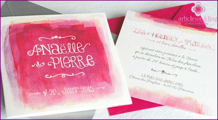 Beautiful fonts for watercolor wedding cards