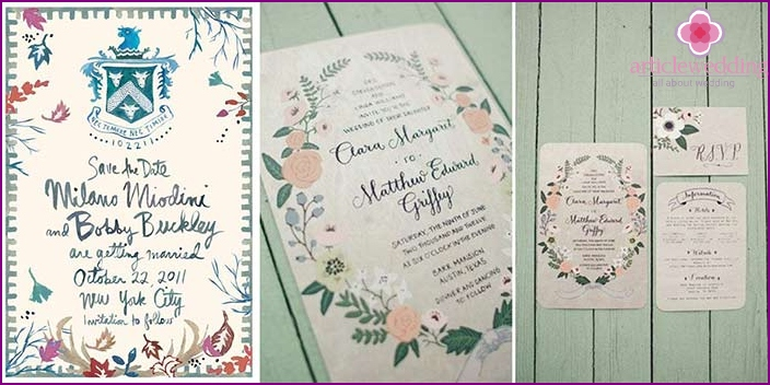 Original watercolor invitation design ideas