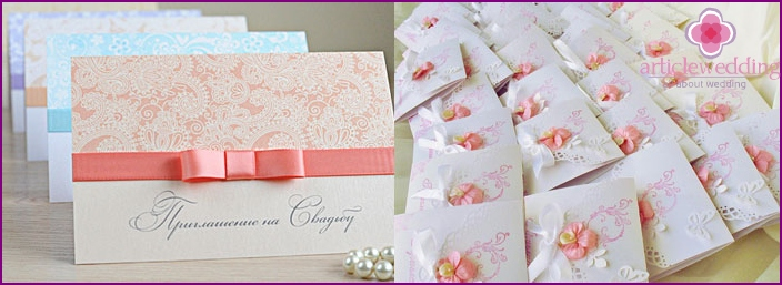 Greeting card with calligraphic design.