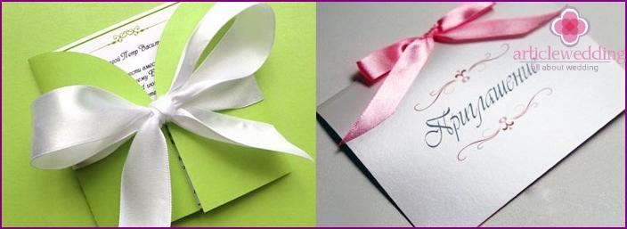 Stylized invitation card