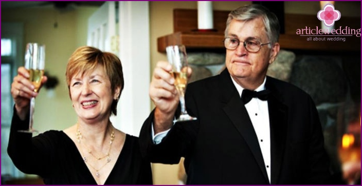 Parents are guests of honor at the wedding