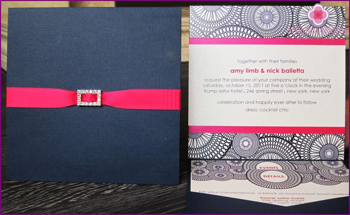 Beautiful layouts of wedding invitations