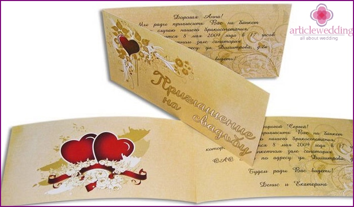 Stylish layouts for wedding invitations.