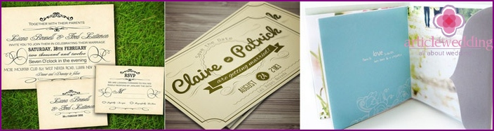 Wedding Invitation Layout Options