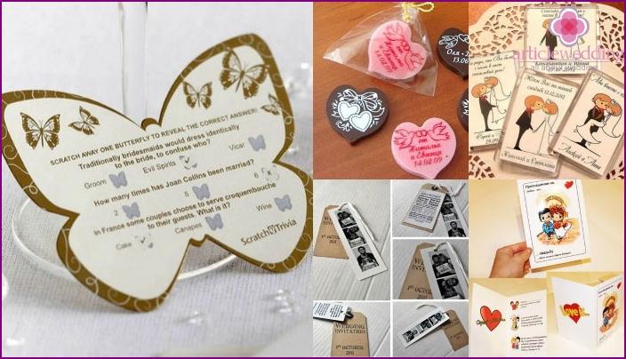 Do-it-yourself wedding invitation options