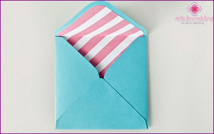 Envelope for any wedding invitation