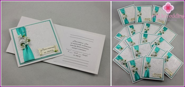 Handmade Tiffany Style Invitation Cards