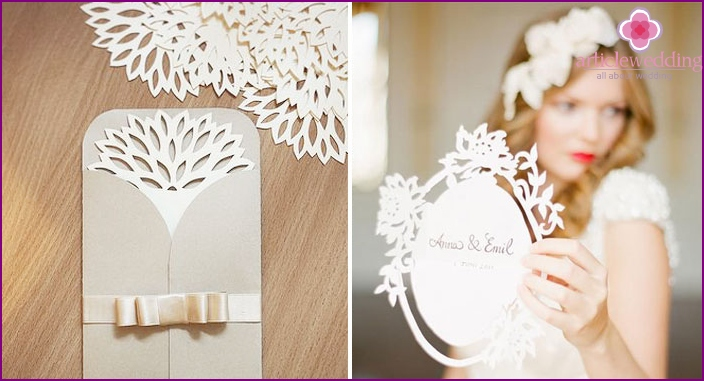 Thematic concept of wedding invitation