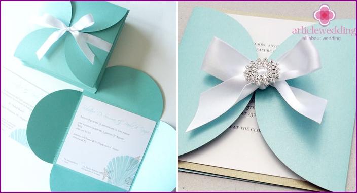 Tiffany-style wedding invitation