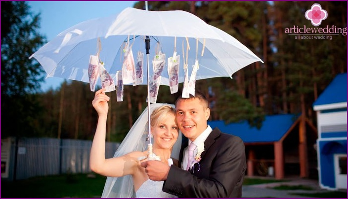 Umbrella with bills