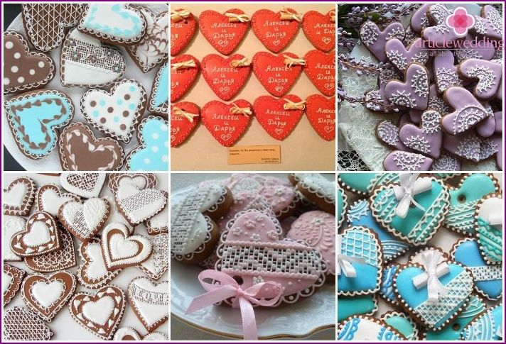 Bonbonnieres gingerbread hearts