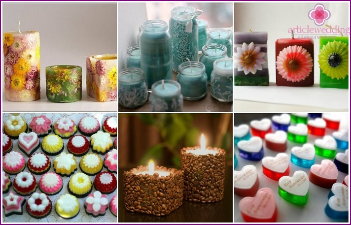 Wedding bonbonniere candles or soap