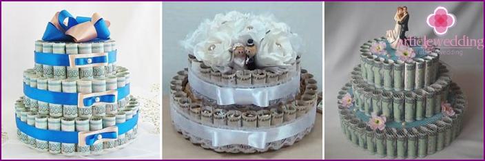 Money cake for the wedding