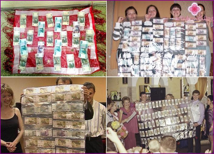 Carpets made of wedding money