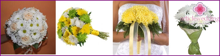 We give chrysanthemums to the wedding