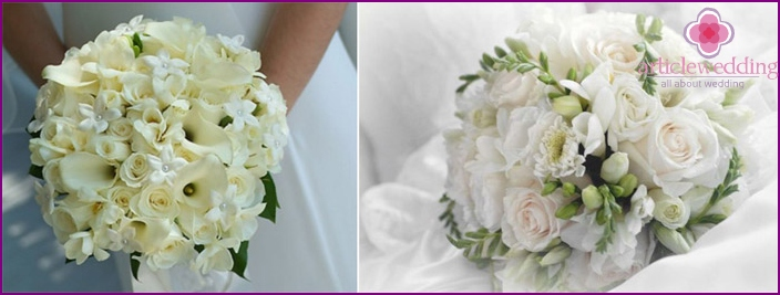 White flowers are often presented for a wedding