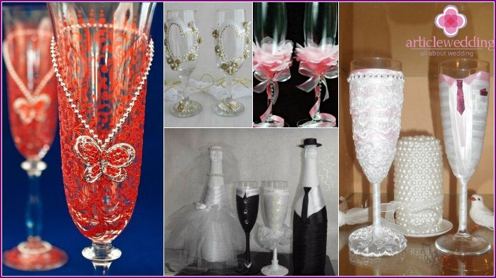 Handmade glasses - a gift for the wedding