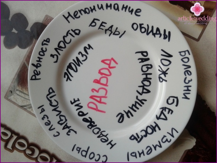 Plates with meaning for the newlyweds