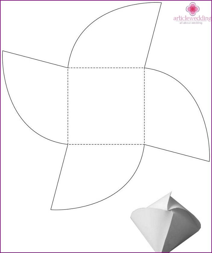 Paper Bonbonniere Templates