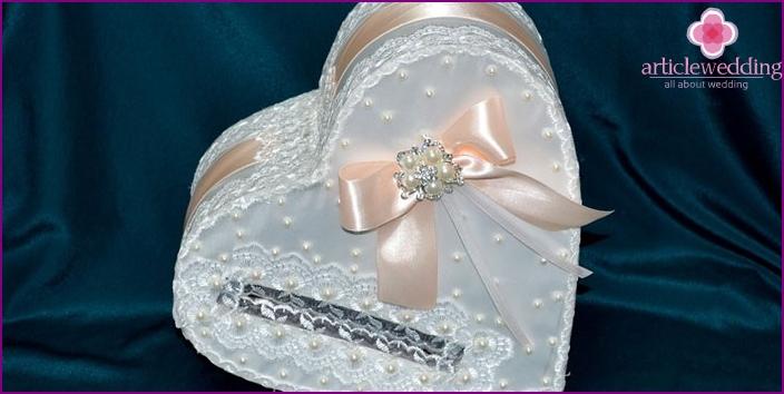 Heart shaped wedding treasury