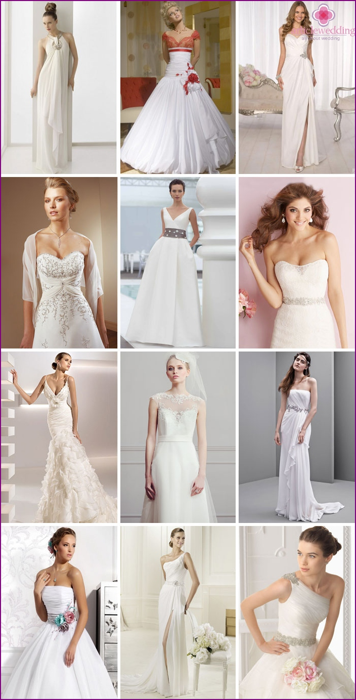 Photos of decorated wedding dresses 2016
