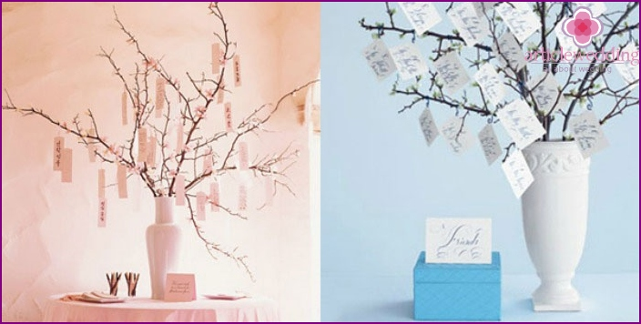 Variants of trees for parting words to the newlyweds