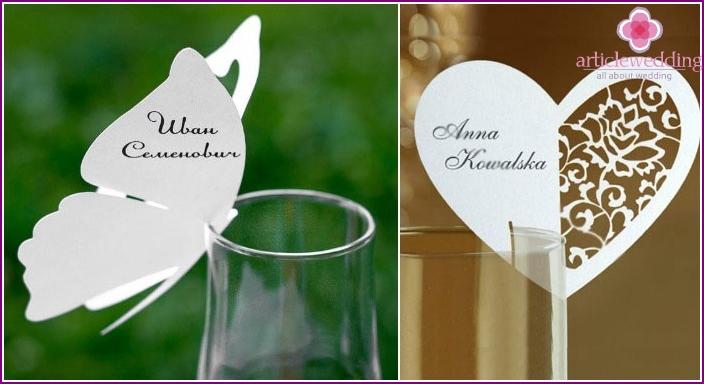 Card Holders Wine Glasses