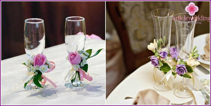 Photo: DIY glass decorations for newlyweds