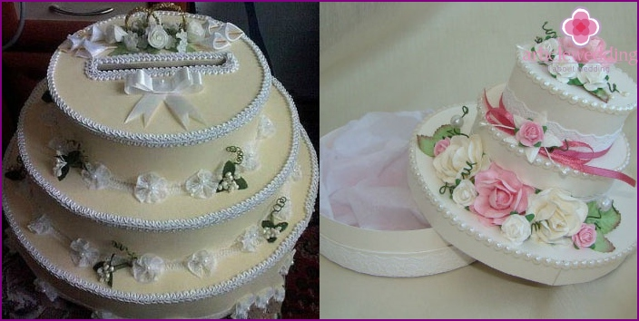 Making a wedding chest in the form of a cake