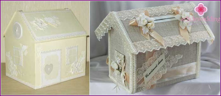 Beautiful casket in the form of a house of spouses