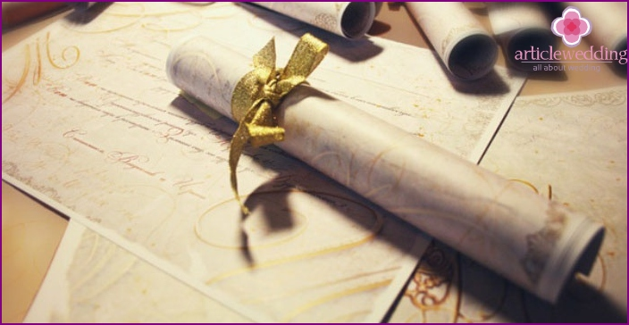 Romantic Scroll Invitation